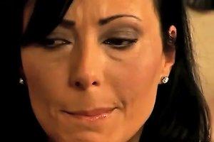 Brunette Milf Catches Daughters Boyfriend Spying Her