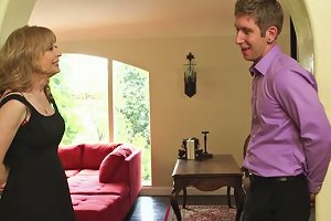 Mature Woman Nina Hartley Is Blowing Young Studs Dick Deepthroat