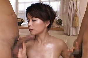 Miki Sato Real Asian Mom Has Group Sex Part4