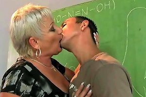 Old Teacher Gets Fucked By Her Student