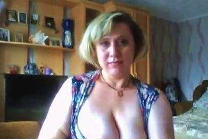 Hot Blonde Mature Plays On Maturescam Club