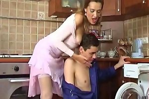 Russian Women Entice Young Guy For Fucking By