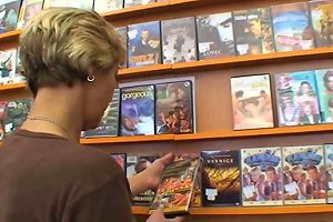 Tanned Cock Crazed Mom Creamed All Over In Video Store