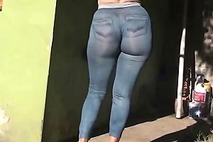 Her Ass In Jens Tight Leggings Free In Ass Porn Video B9