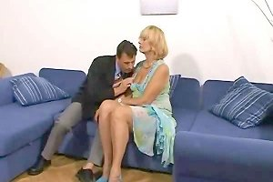 Horny Mom Lady Spreads Her Hairy Pussy For Some Young